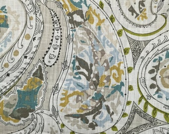 Earth Tones Paisley - Upholstery Fabric by the Yard