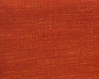 Tangerine With Hints Of Golden Yellow Tweed Fabric- Upholstery Fabric By The Yard