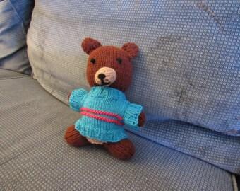 Hand-knit Stuffed Teddy Bear Toy