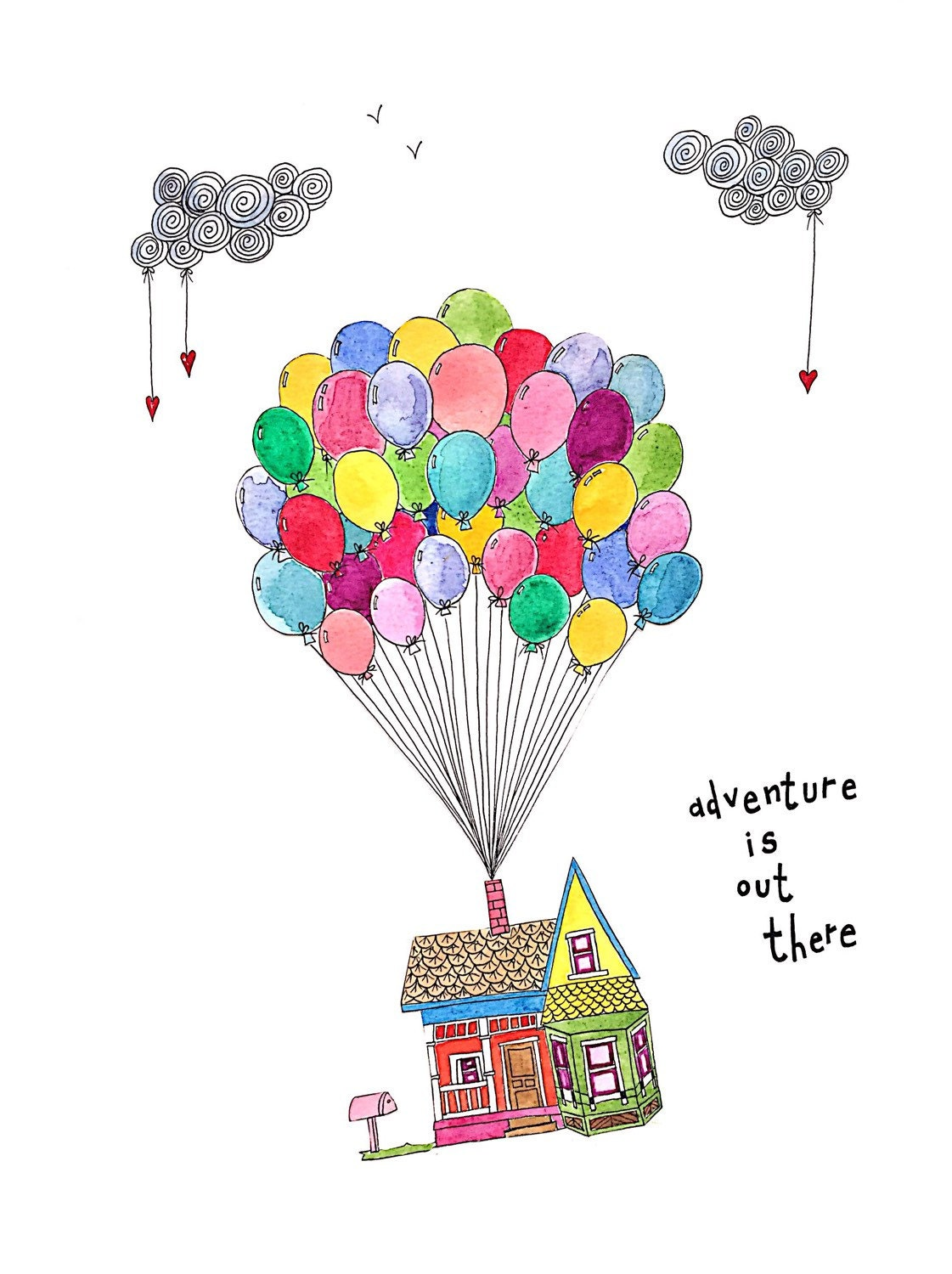 Up Balloon House Drawing | www.imgkid.com - The Image Kid ...