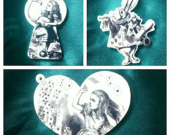 Alice in Wonderland necklaces.