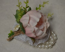 Pink Peony Wrist Corsage Real Touch Flowers Prom Corsage