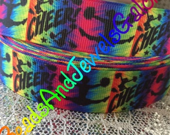 Cheer inspired 7/8 inch grosgrain ribbon