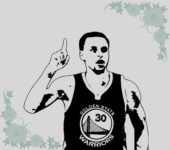 Stephen Curry Wall Decal Poster Art Decor Sticker By