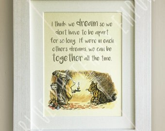 Winnie the Pooh QUOTE PRINT, Birth, Christening, Nursery Picture Gift, Pooh Bear, *UNFRAMED* Beautiful Gift, Tigger