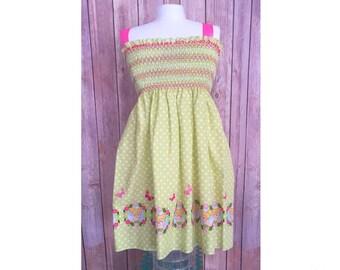 Tinkerbell Sundress, Toddler Sundress, Green Sundress, Pink Sundress, Little Girl Tink Dress