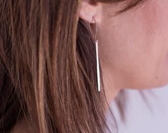 NEW loops of ear bar minimalist, laser, cut plating Rose Gold high-quality matte finish