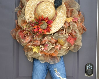 Scarecrow Mesh Wreath