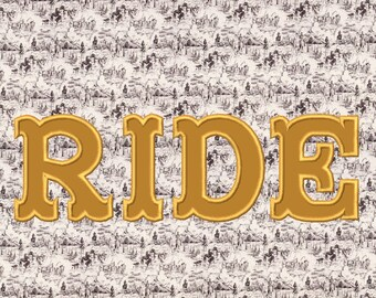 Fishtail or Big top, Western, rodeo, cowboy applique Font machine embroidery applique designs, INSTANT DOWNLOAD, Multiple sizes