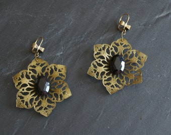 Swarovski earrings with filigree