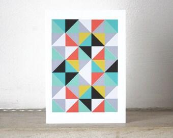 Geometric Patterned Notecard