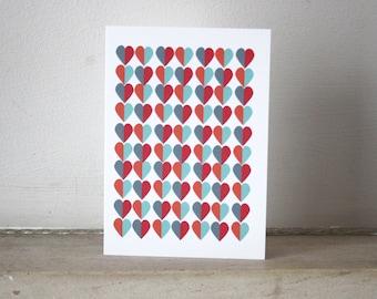 Love Heart DesignPattern Notecard