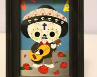 Day of the Dead Mariachi 4x6 Print