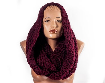 Crochet infinity scarf, Cowl scarf, Chunky Cowl | Scarf Shawl | Endless scarf | Scarf collar | LoveKnittings
