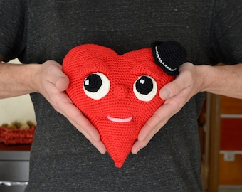 Amigurumi. Heart, Mr. Scamp. Crochet, toy, friendship, love, romantic gift