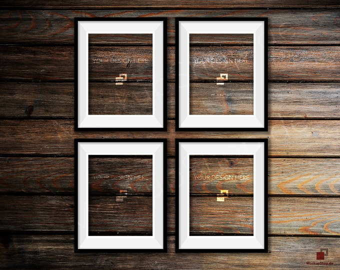 BLACK FRAME MOCKUP, Set of 4, Empty Mockup Frame, Black Frame Mock-Up, Digital Frame Mockup for download, Frame Mockup, Download File