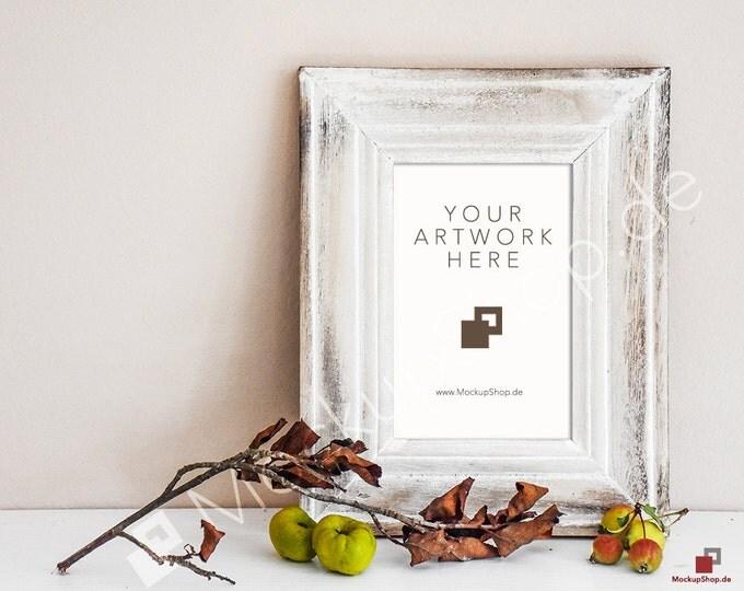 8x12 AUTUMN WODDEN FRAME Mockup // Empty Frame Mockup // Old Mockup // Autumn Frame Mockup // Autumn wooden Mockup / Autumn wooden Frame