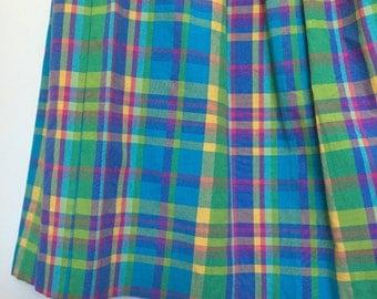 Vintage pastel plaid skirt size 12