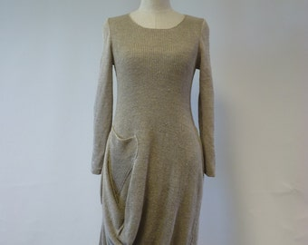 The hot price. Natural irregular linen dress, M size. Casual and fashion together.