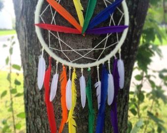 Rainbow Design Dreamcatcher