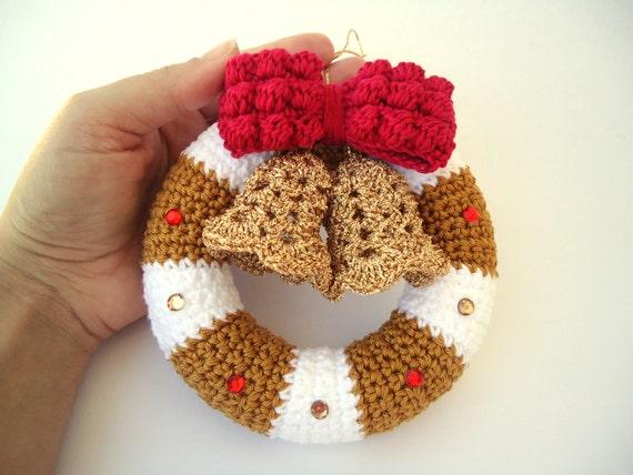Christmas Wreath In Crochet Door Hanger Decoration Christmas