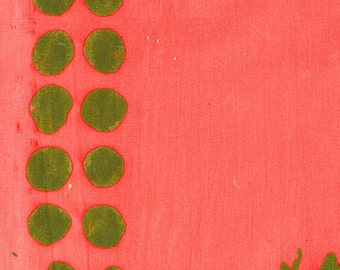 Alison Glass Handcrafted 2 Batik Fabric, Plume in Salmon Pink