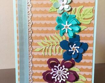 Handmade Stampin Up Greeting Card Botanical Blooms Just Because