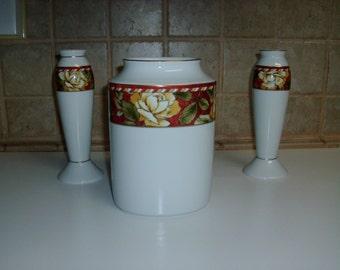 Vintage Rosen Thal Renassance 2 candle holders and 1 vase