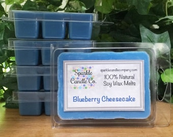 Soy Wax Melts - BLUEBERRY CHEESECAKE Scented Tart  - 1 package