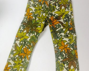 Funky bold print heavy cotton jeans in a UK size 12.