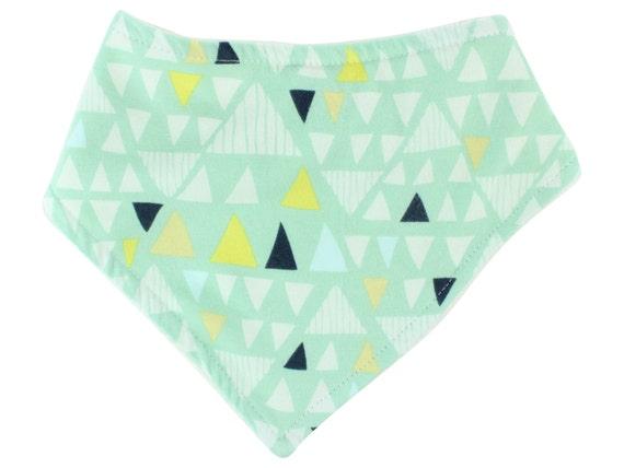 Mint Triangle Bandana Bib Baby Bib Drool Bib Boy Bib