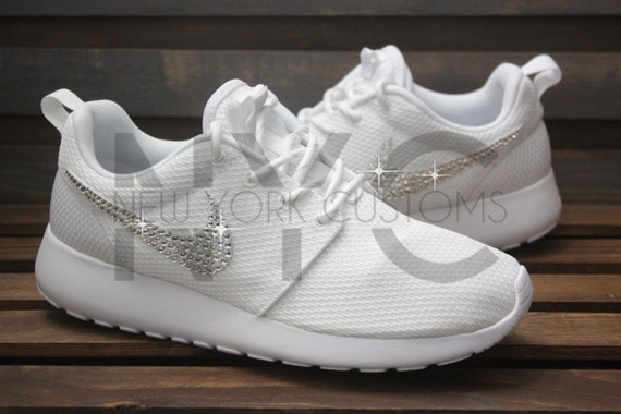 8fd733acf0a82b durable service Ready to Ship Women 6 Blinged Nike Roshe Run Shoes by  NYCustoms
