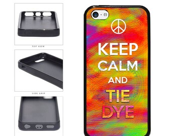 Hippie Keep Calm And Tie Dye Phone Case - iPhone 4 4s 5 5s 5c 6 6 Plus iPod Touch