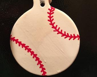 Porcelain Baseball or Softball Christmas Ornament