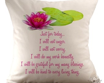 Reiki Principles - 18x18 Pillow Cover