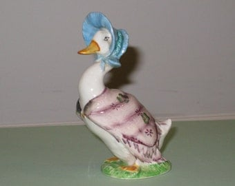 "Vintage 1970s BEATRIX POTTER ""Jemima Puddleduck"" Figurine by F. Warne & Co. Ltd. Beswick, England (BP-3a backstamp)"