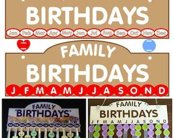 Birthday Calendar.......SVG, FCM & MTC..............Commercial Use
