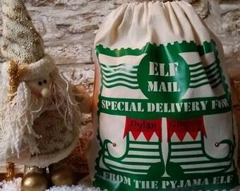 Pyjama/Pajama Elf Mail........SVG Digital Download.........Commercial USE