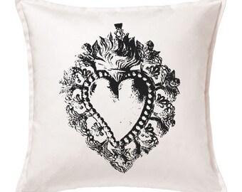 """""""Ex Voto"""" cushion 50x50cm-Silkscreen printed"""