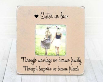 Sister in Law Gift Bridesmaid Gift Bridesmaid Frame Sister in law gift ...