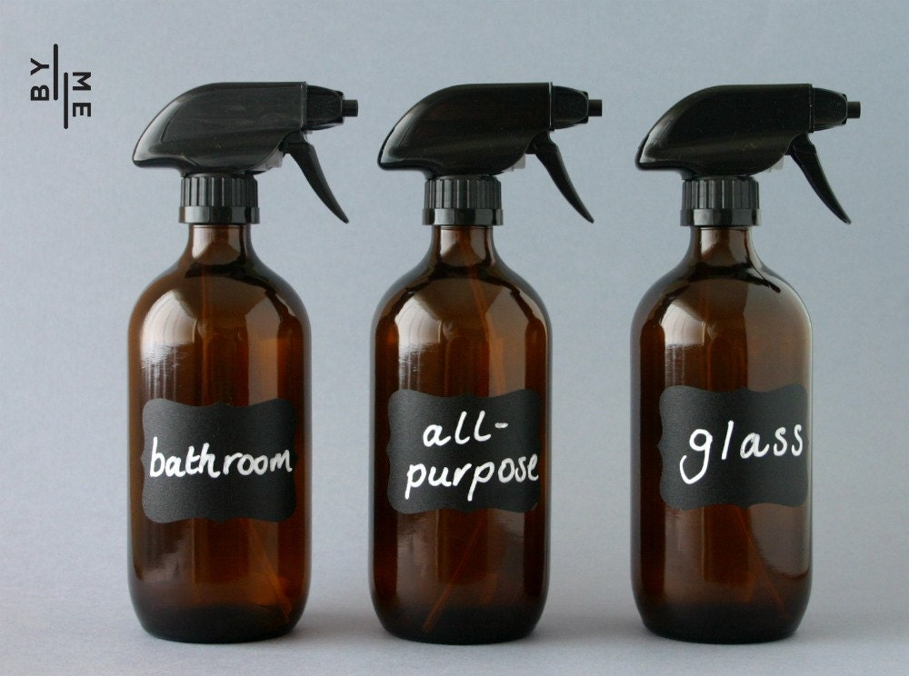 3 X 500ml Amber Glass Spray Bottles With Labels Amp New Superior