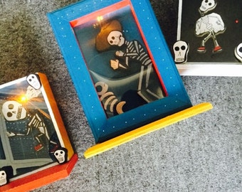Price Reduced to Sell CLEARANCE 3 Dia de Los Muertos (Day of the Dead) Battery-lit Nichos--Liquidating All Inventory