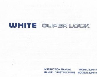 white 734dw superlock serger manual