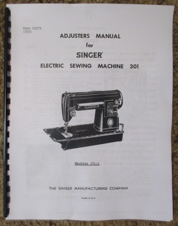 singer classe 301 301 1 machine coudre r paration r gleurs. Black Bedroom Furniture Sets. Home Design Ideas