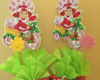 Strawberry Shortcake inspired Centerpiece Birthday party centerpiece