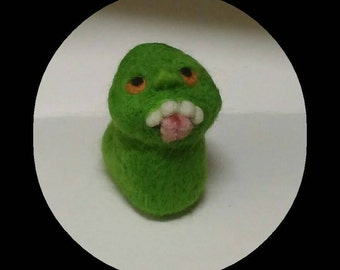 Needle Felted Ghost, Ghoul, Slimer, Ghostbusters, Halloween, Gift, Present