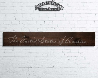 The United States of America Sign - Handmade American Decor