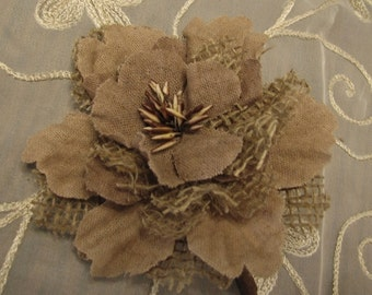 Burlap Peony Stem rustic wedding burlap flower peony burlap flowers with stems for burlap wedding bouquet