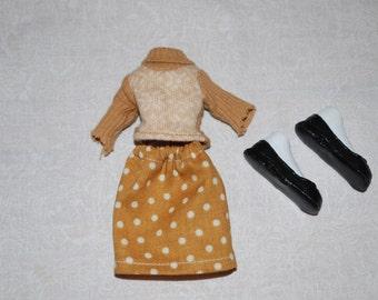 Bratz Made-under Doll Clothes. Shirt, Skirt and shoes
