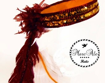 Burgundy, Gold, and White Party Hat